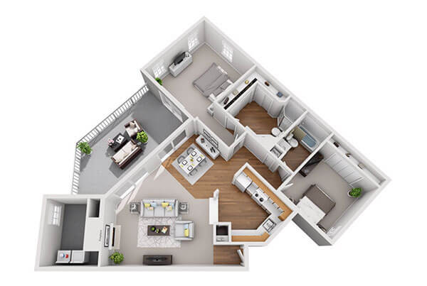 Safire at Matthews 1081ft Floor Plan