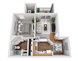 Safire at Matthews 553ft Floor Plan