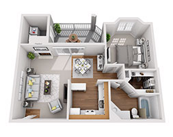 Safire at Matthews 672ft Floor Plan