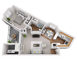 Safire at Matthews 752ft Floor Plan