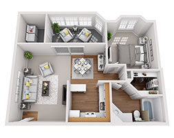 Safire at Matthews 769ft Floor Plan