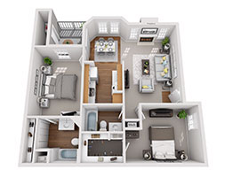 Safire at Matthews 908ft Floor Plan